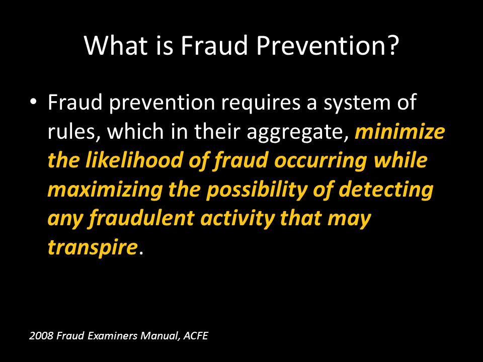 What is Fraud Prevention