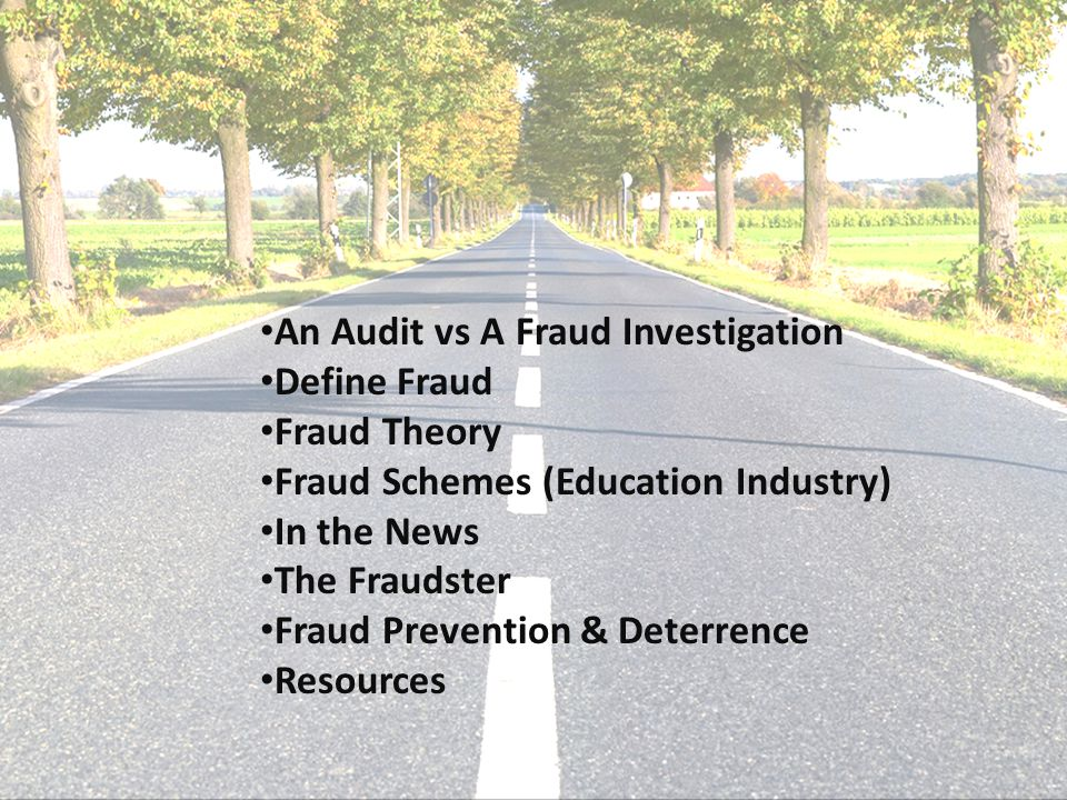 An Audit vs A Fraud Investigation