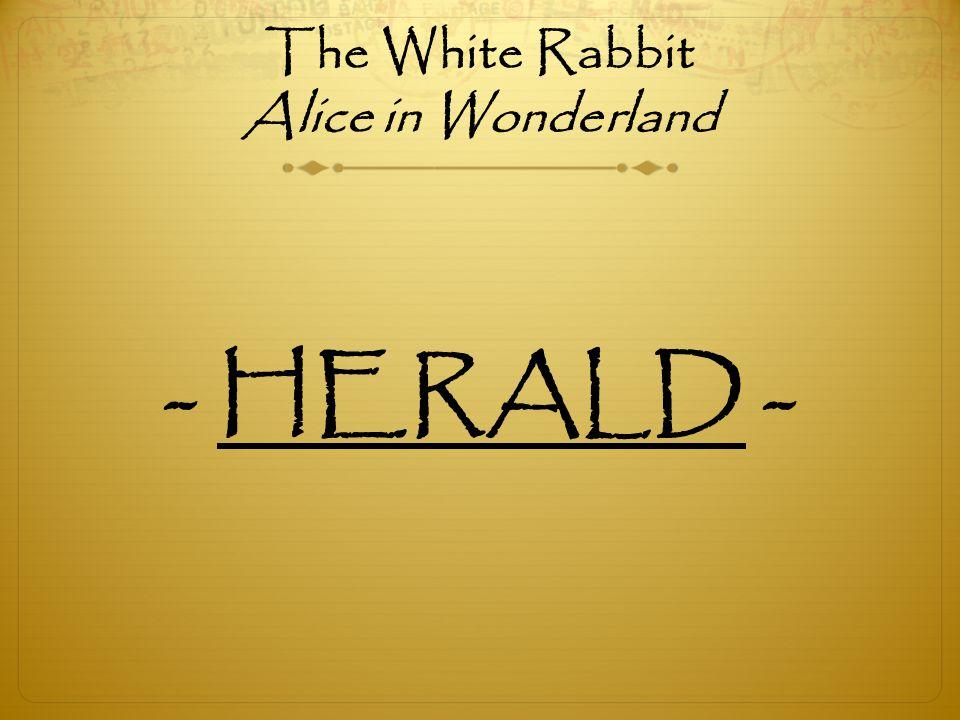 The White Rabbit Alice in Wonderland