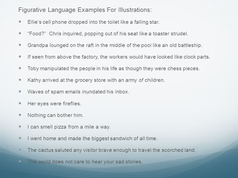 Figurative Language Examples For Illustrations: