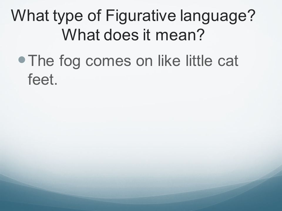 What type of Figurative language What does it mean