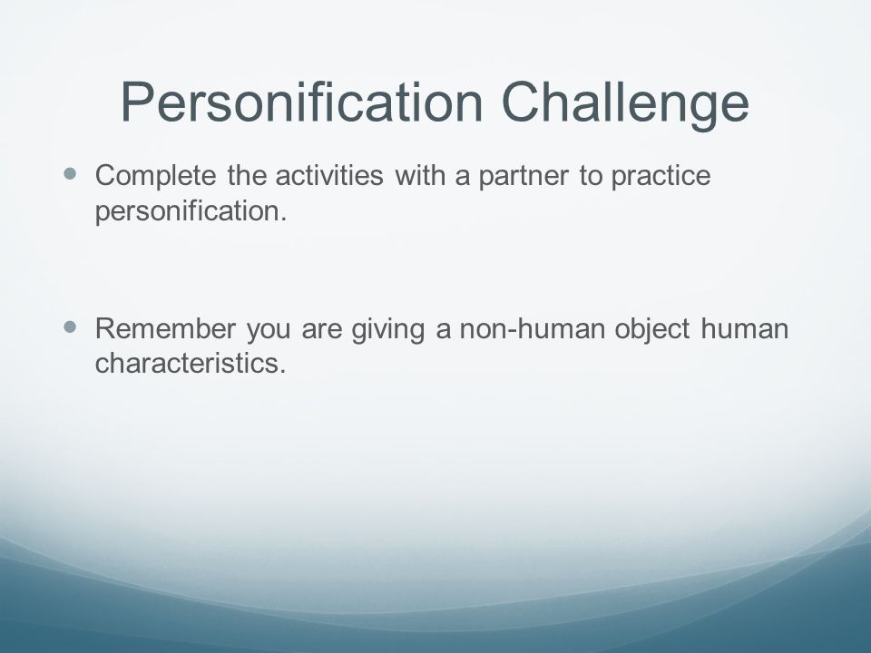 Personification Challenge