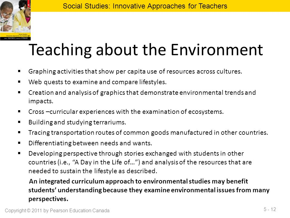 Teaching about the Environment