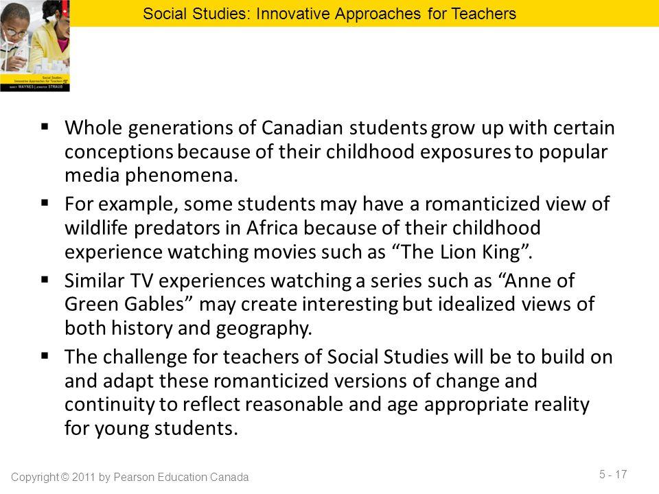 Social Studies: Innovative Approaches for Teachers