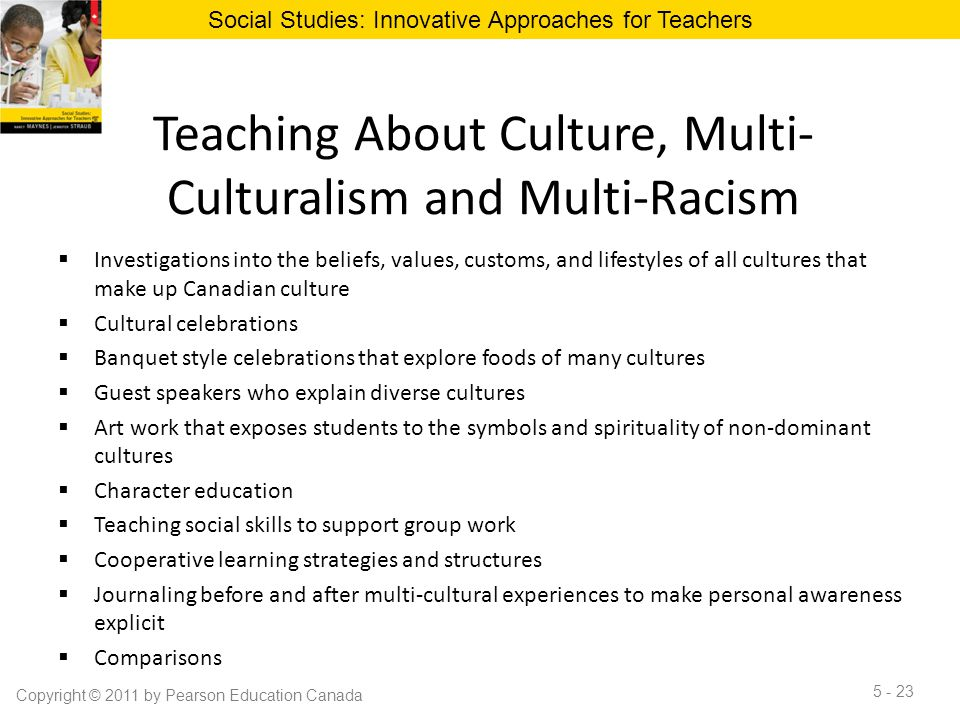Teaching About Culture, Multi-Culturalism and Multi-Racism