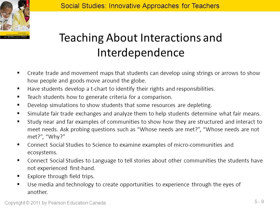 Teaching About Interactions and Interdependence