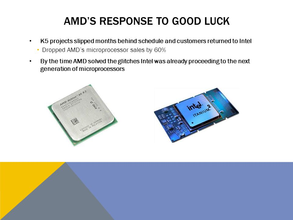 AMD's response to Good Luck