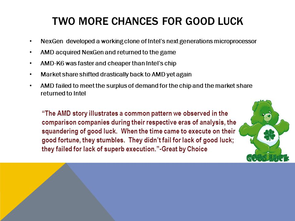 Two More Chances For Good Luck