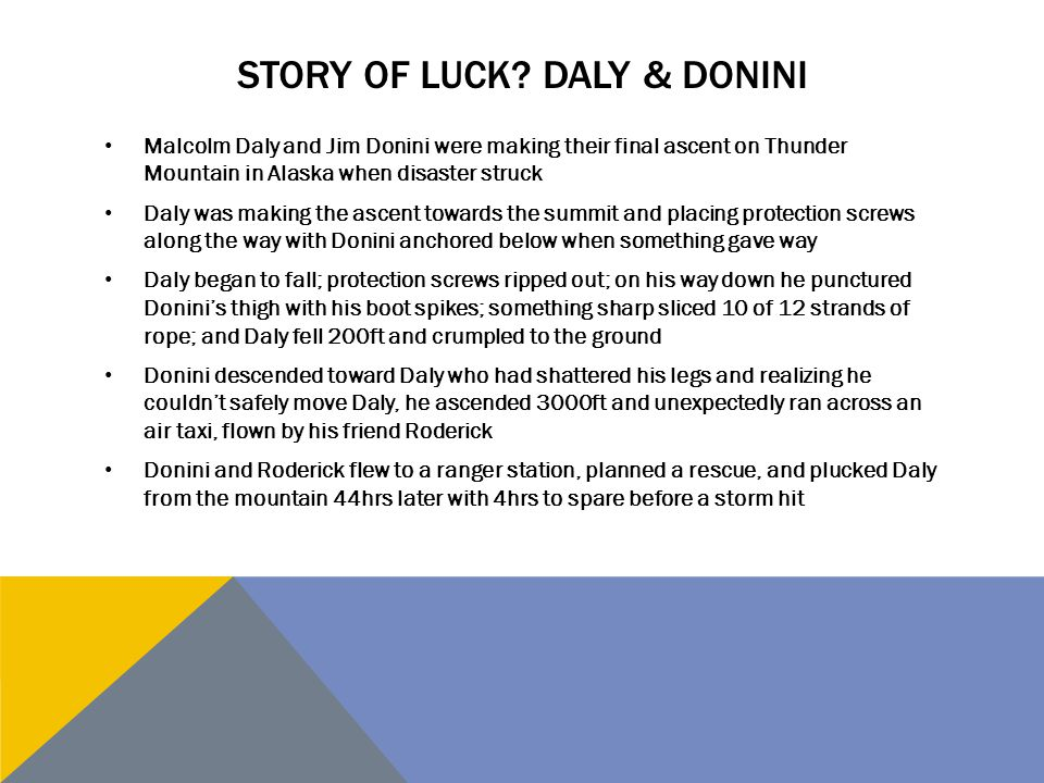 Story of Luck Daly & Donini