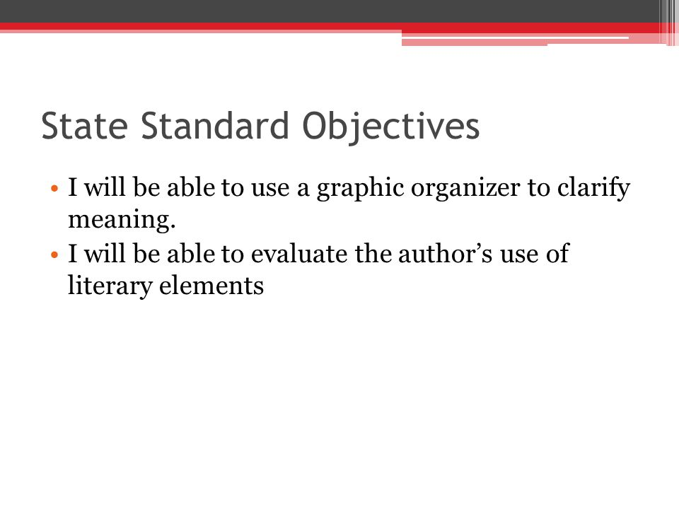 State Standard Objectives