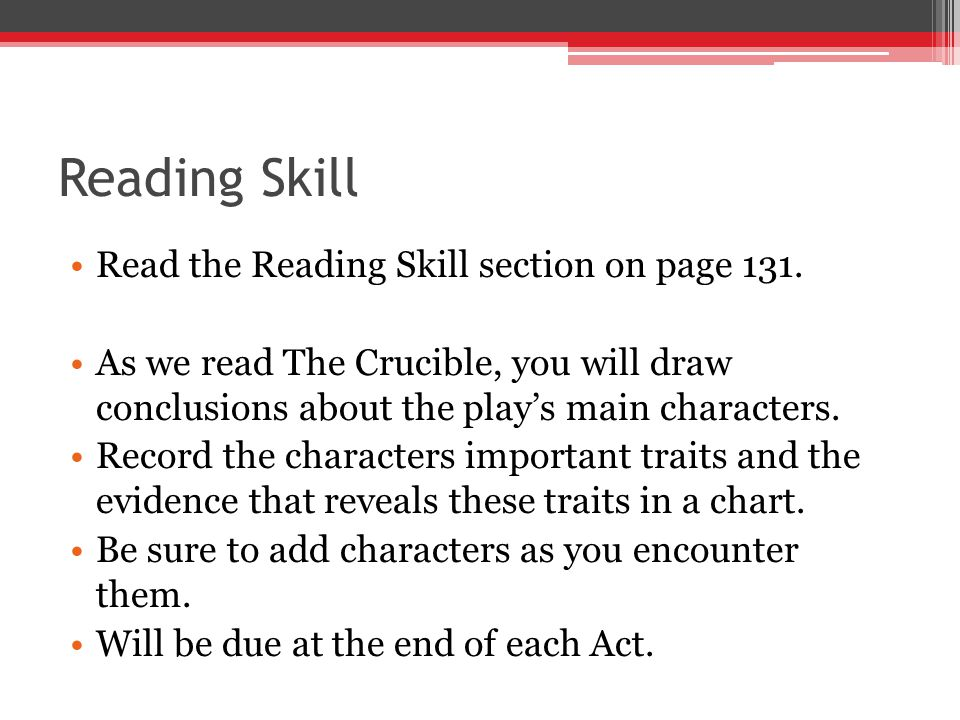 Reading Skill Read the Reading Skill section on page 131.
