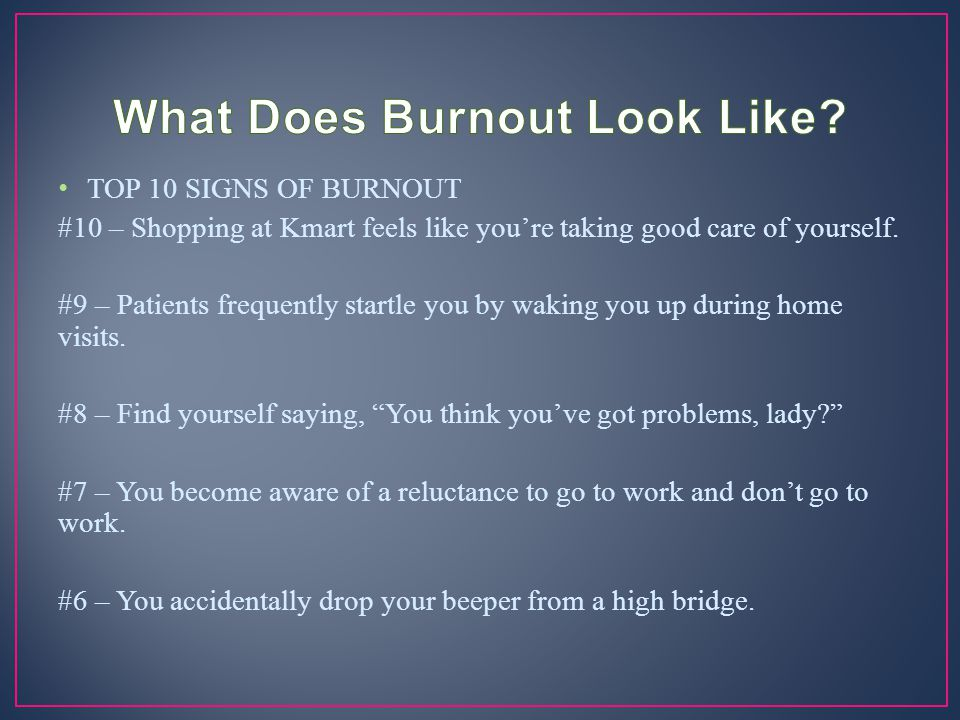 What Does Burnout Look Like