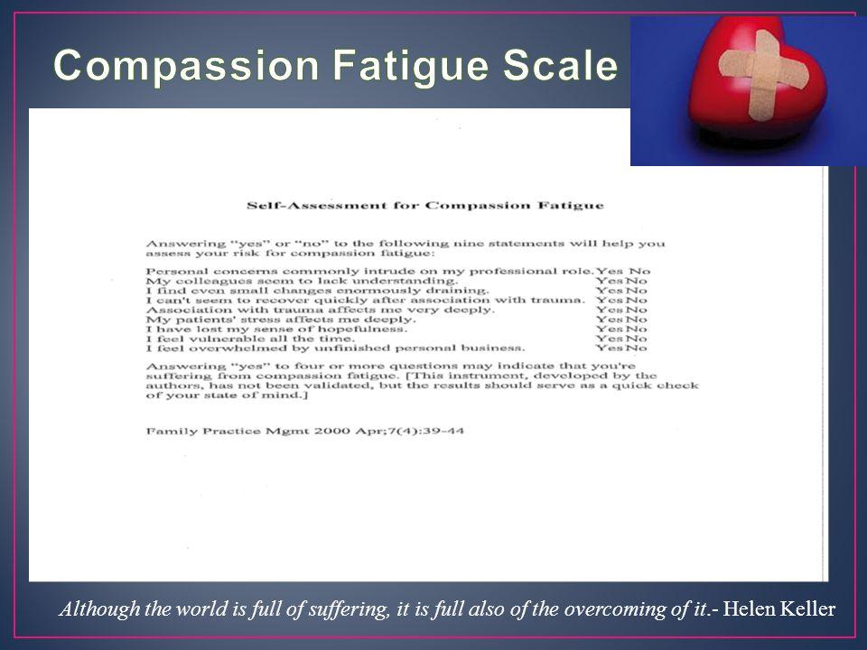Compassion Fatigue Scale