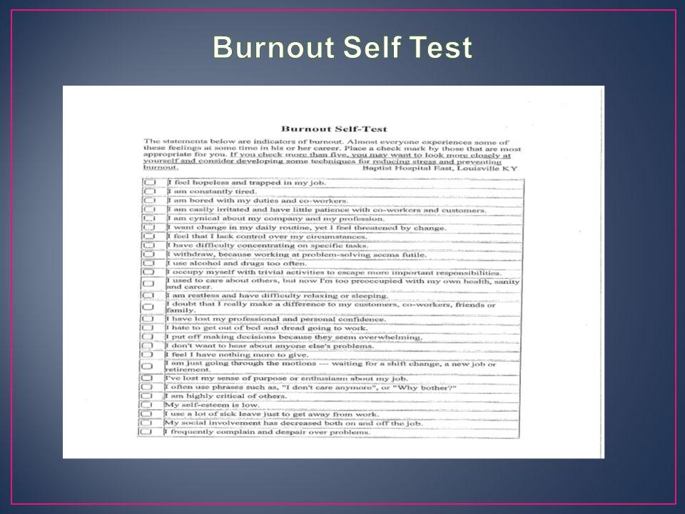 Burnout Self Test