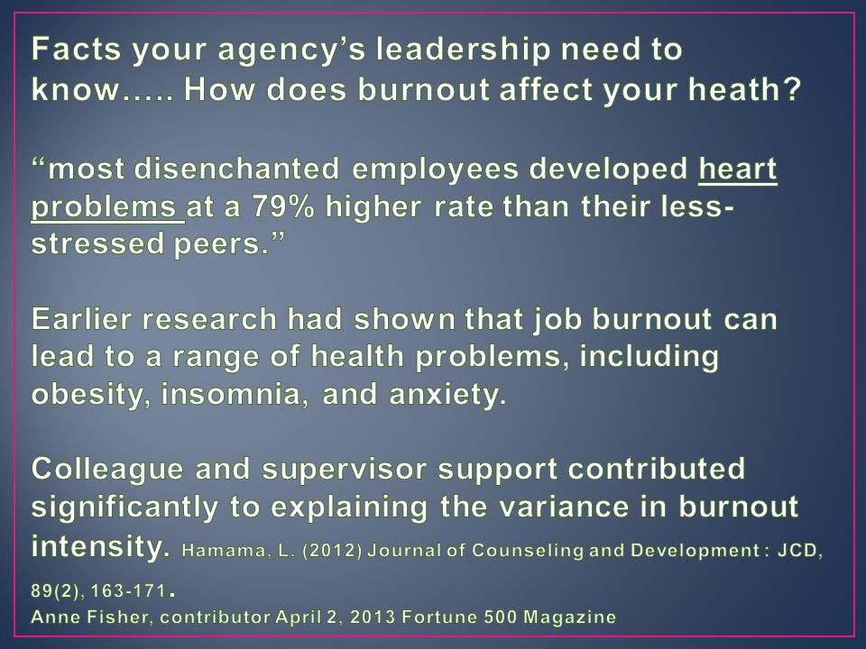 Facts your agency's leadership need to know…