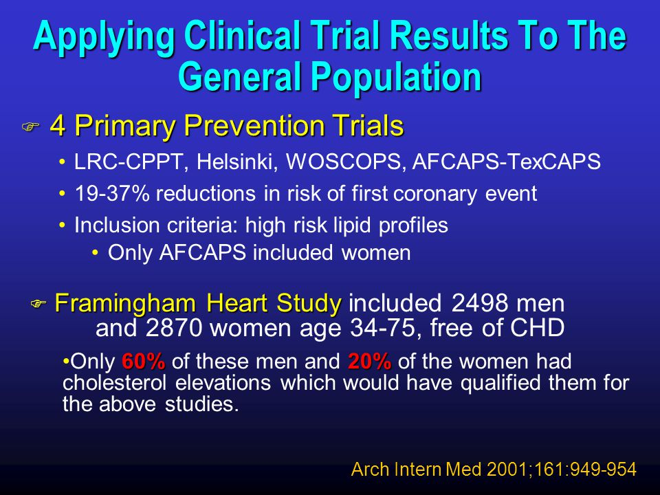 Applying Clinical Trial Results To The General Population