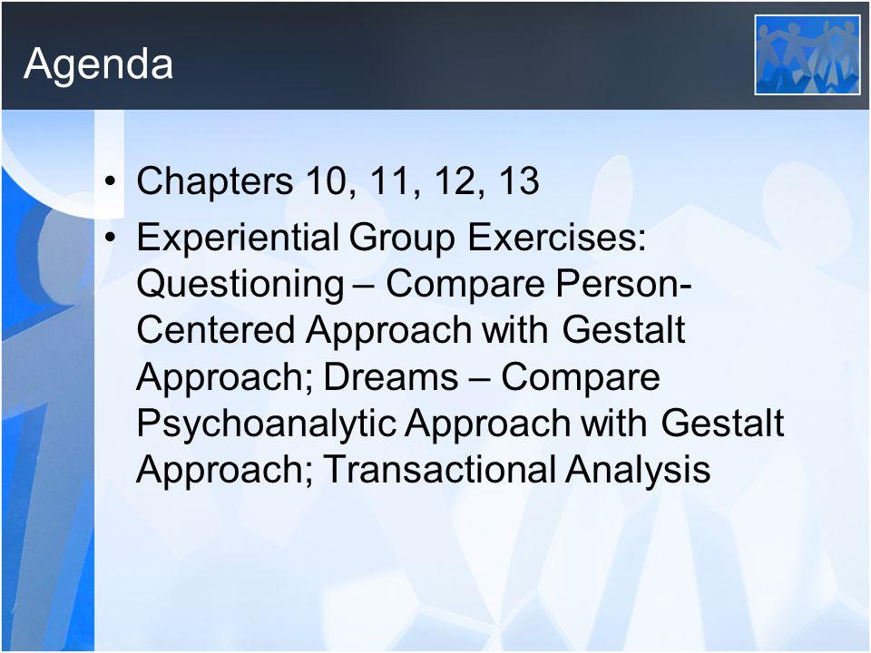Agenda Chapters 10, 11, 12, 13.