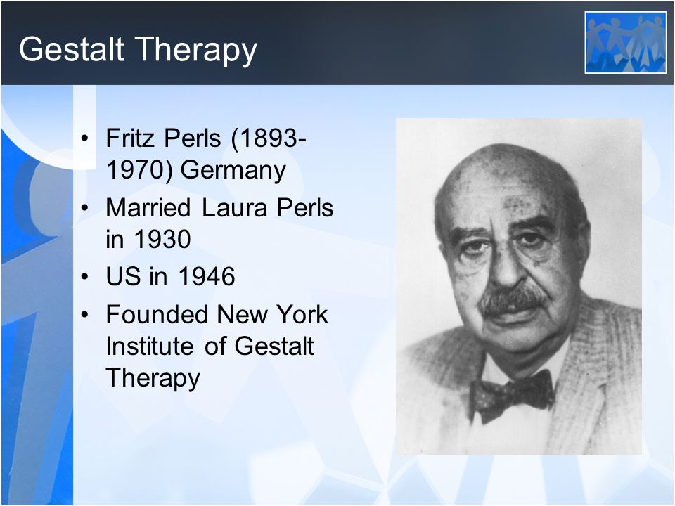 Gestalt Therapy Fritz Perls (1893-1970) Germany