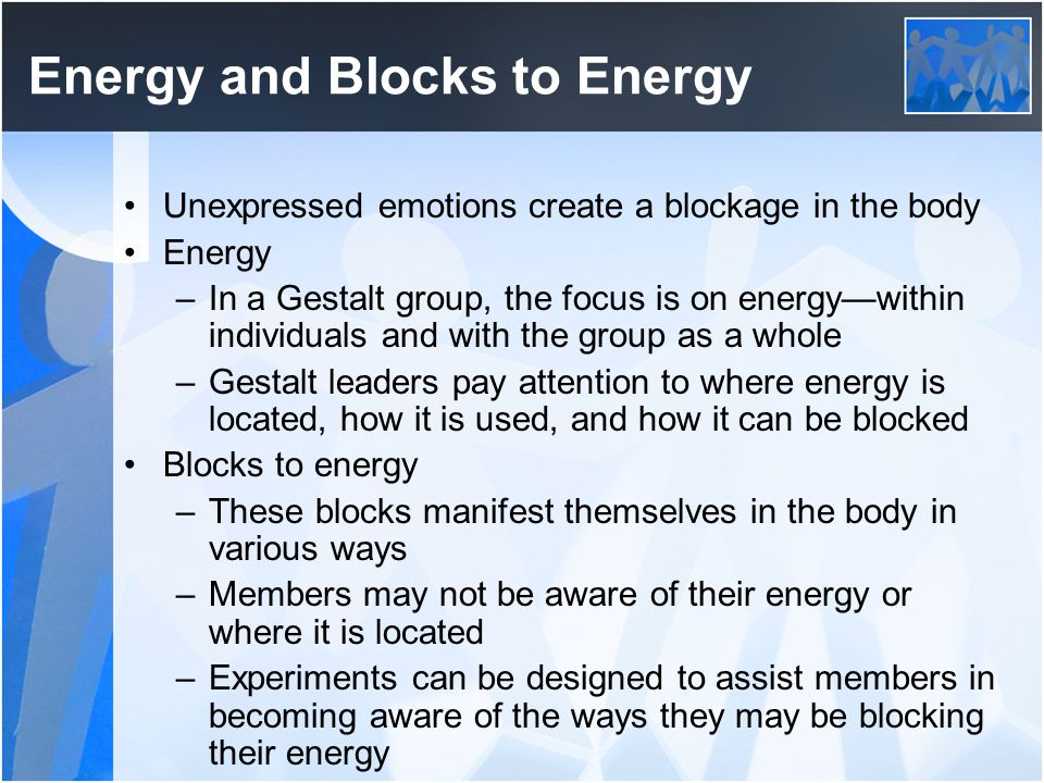 Energy and Blocks to Energy