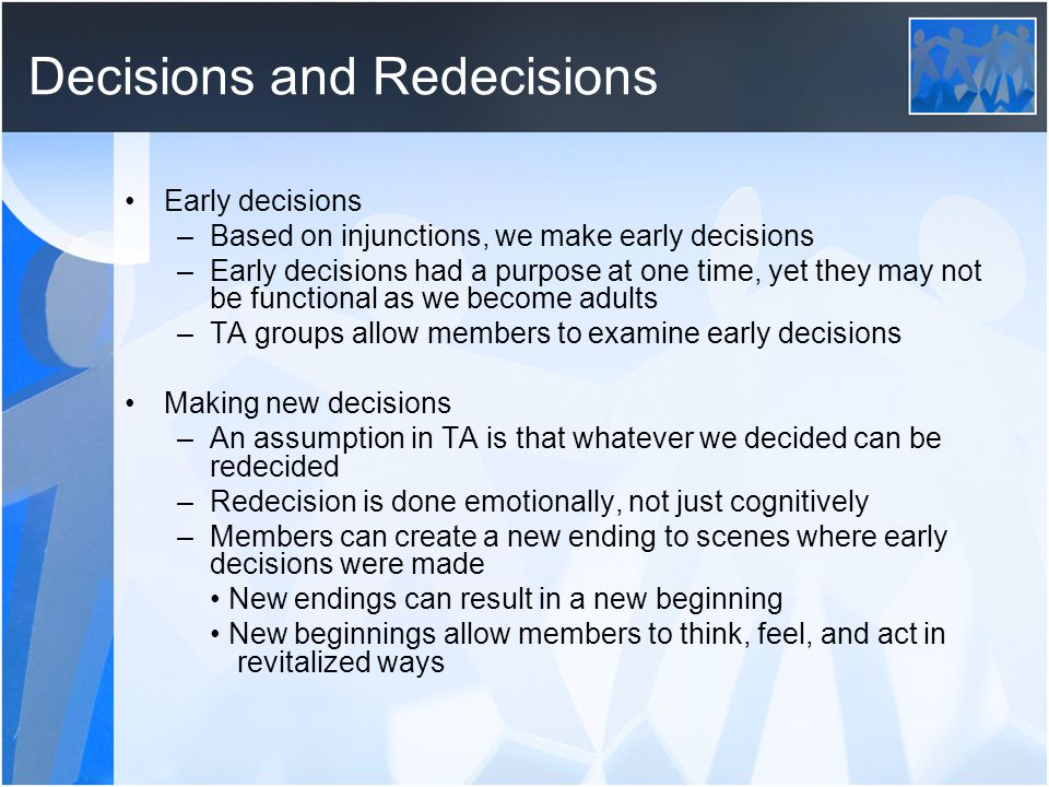 Decisions and Redecisions