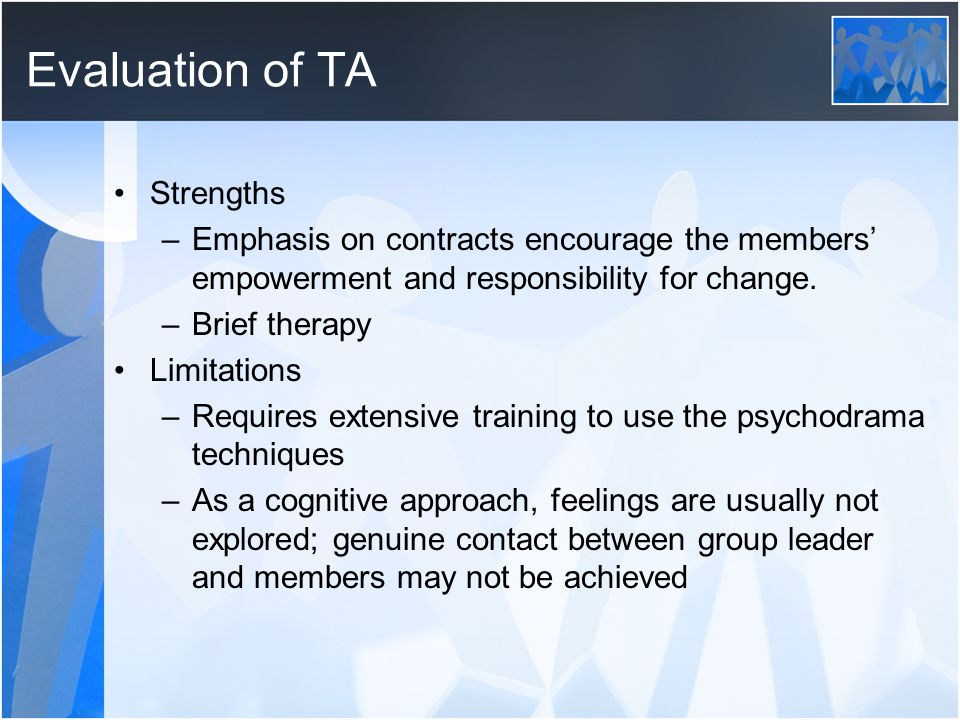 Evaluation of TA Strengths