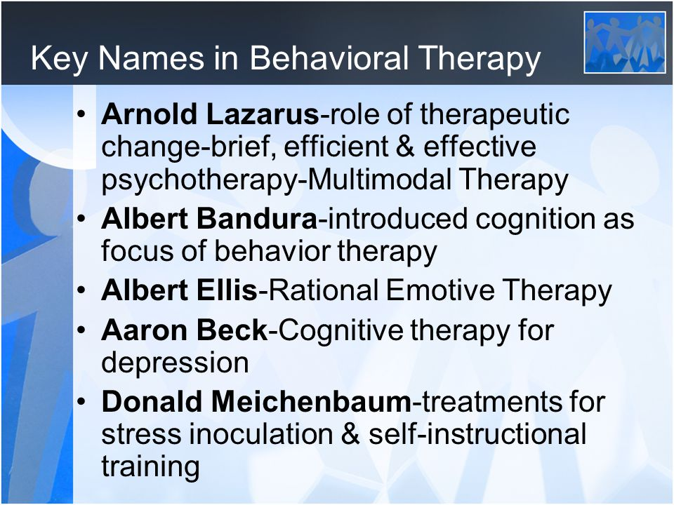 Key Names in Behavioral Therapy