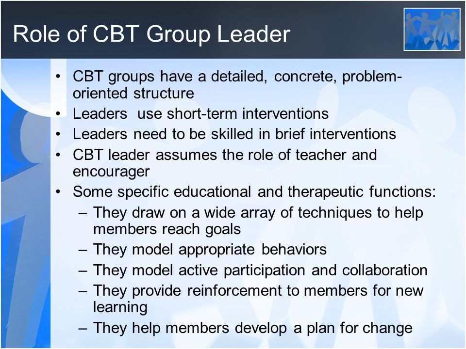 Role of CBT Group Leader
