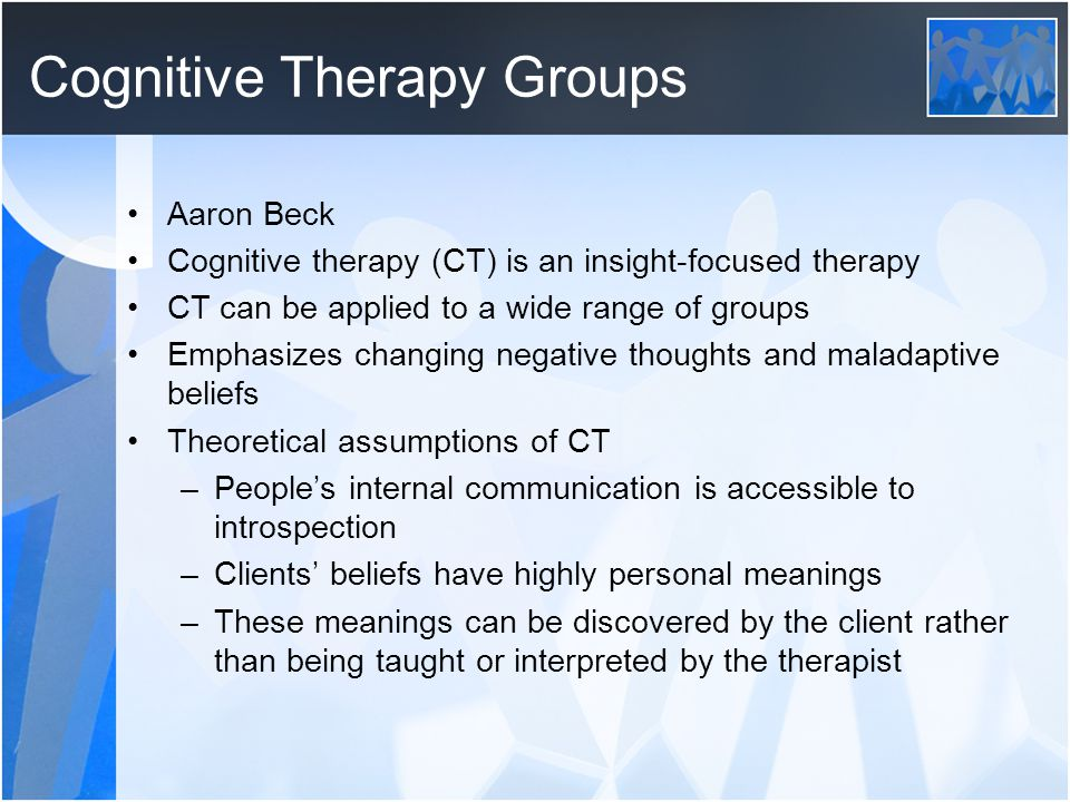Cognitive Therapy Groups