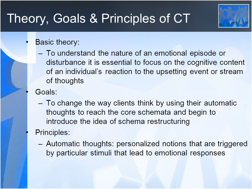 Theory, Goals & Principles of CT