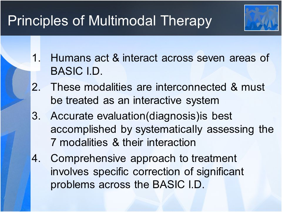 Principles of Multimodal Therapy
