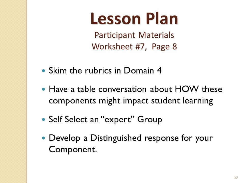 Lesson Plan Participant Materials Worksheet #7, Page 8