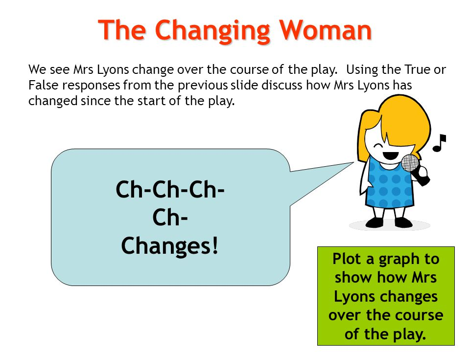 The Changing Woman Ch-Ch-Ch-Ch-Changes!