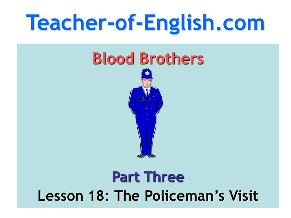 Lesson 18: The Policeman's Visit