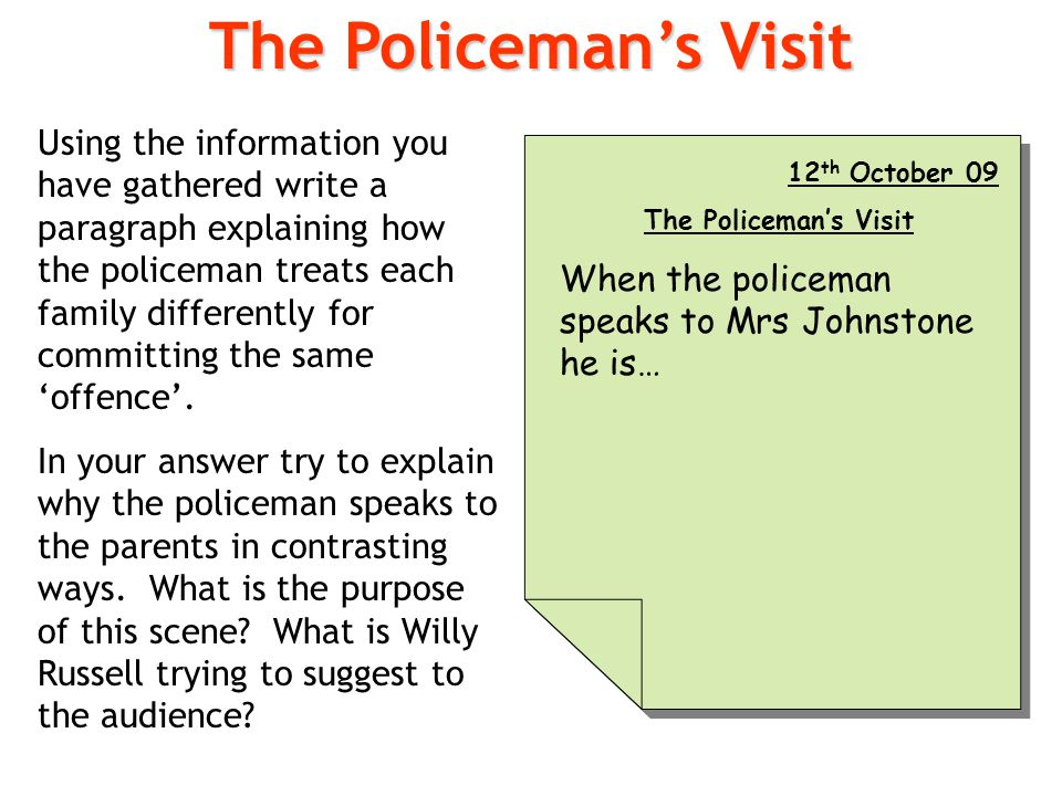 The Policeman's Visit