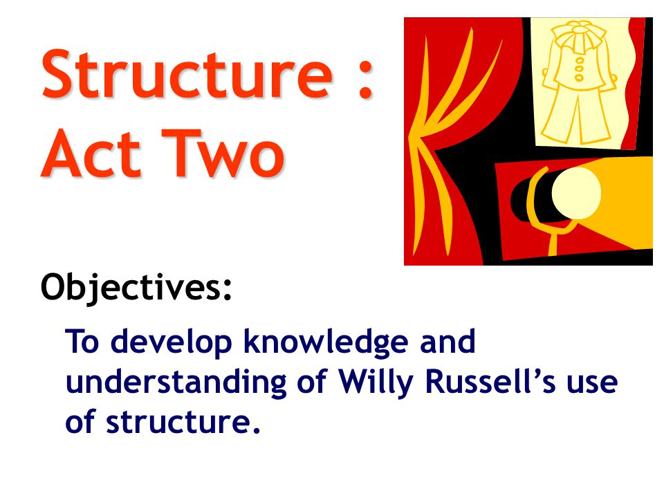 Structure : Act Two Objectives: