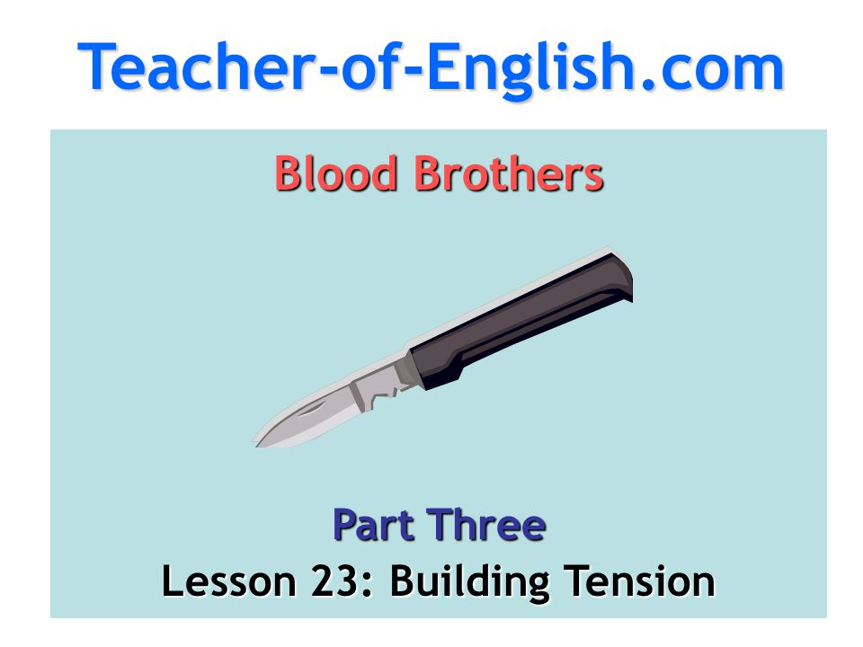 Lesson 23: Building Tension