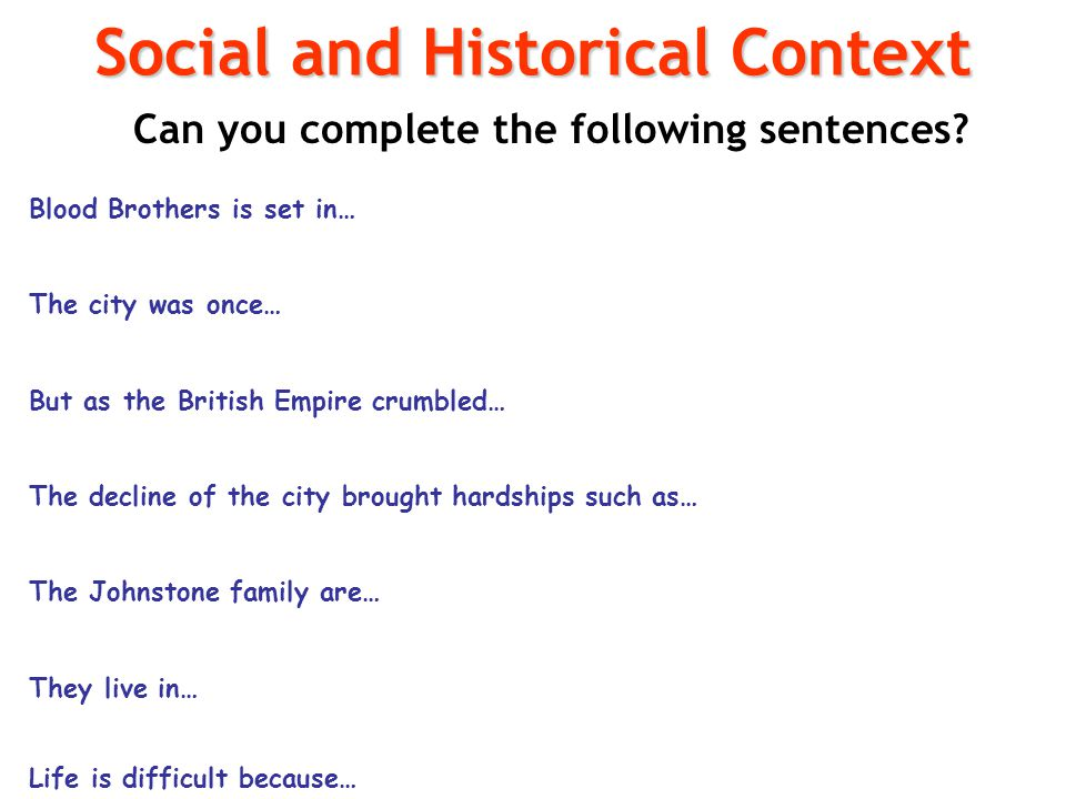 Social and Historical Context
