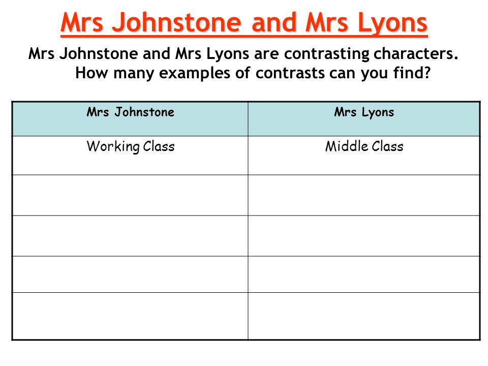 Mrs Johnstone and Mrs Lyons