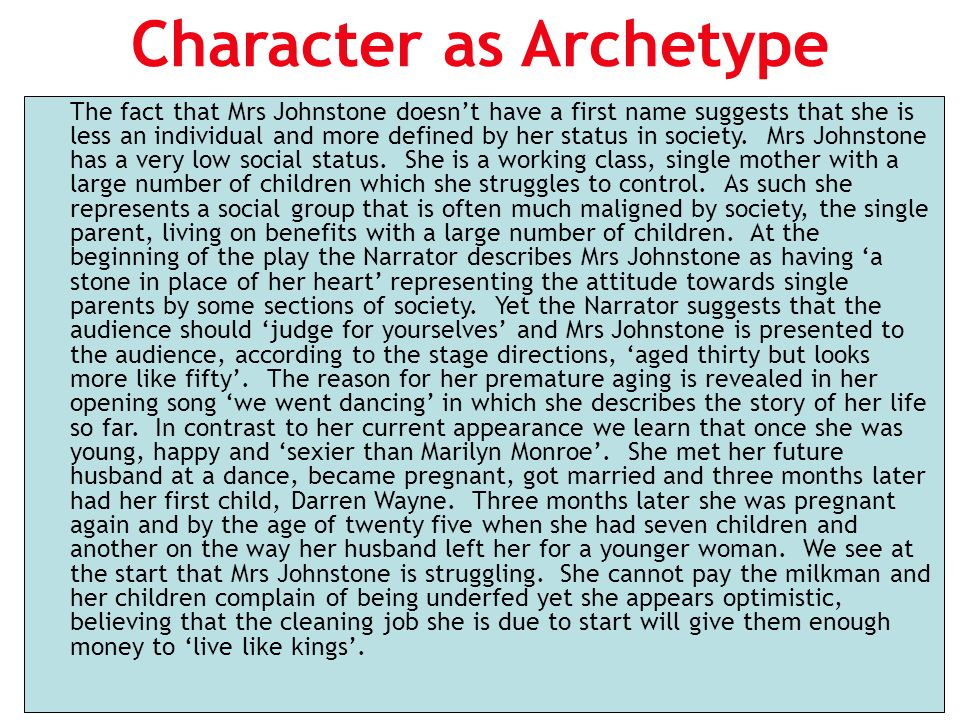 Character as Archetype