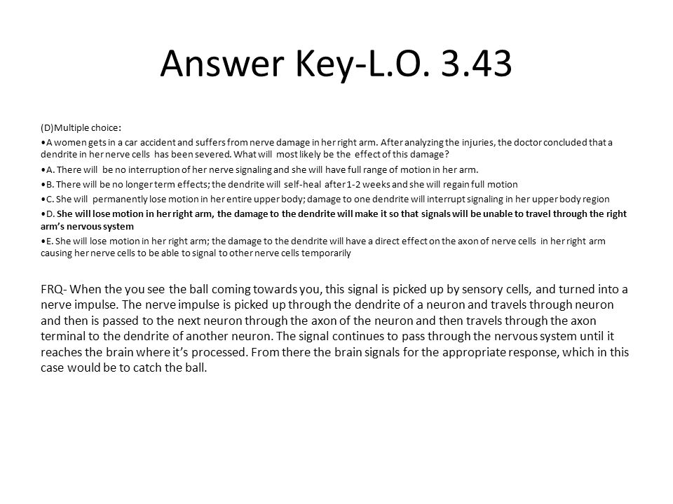 Answer Key-L.O. 3.43 (D)Multiple choice: