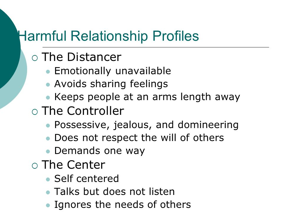 Harmful Relationship Profiles
