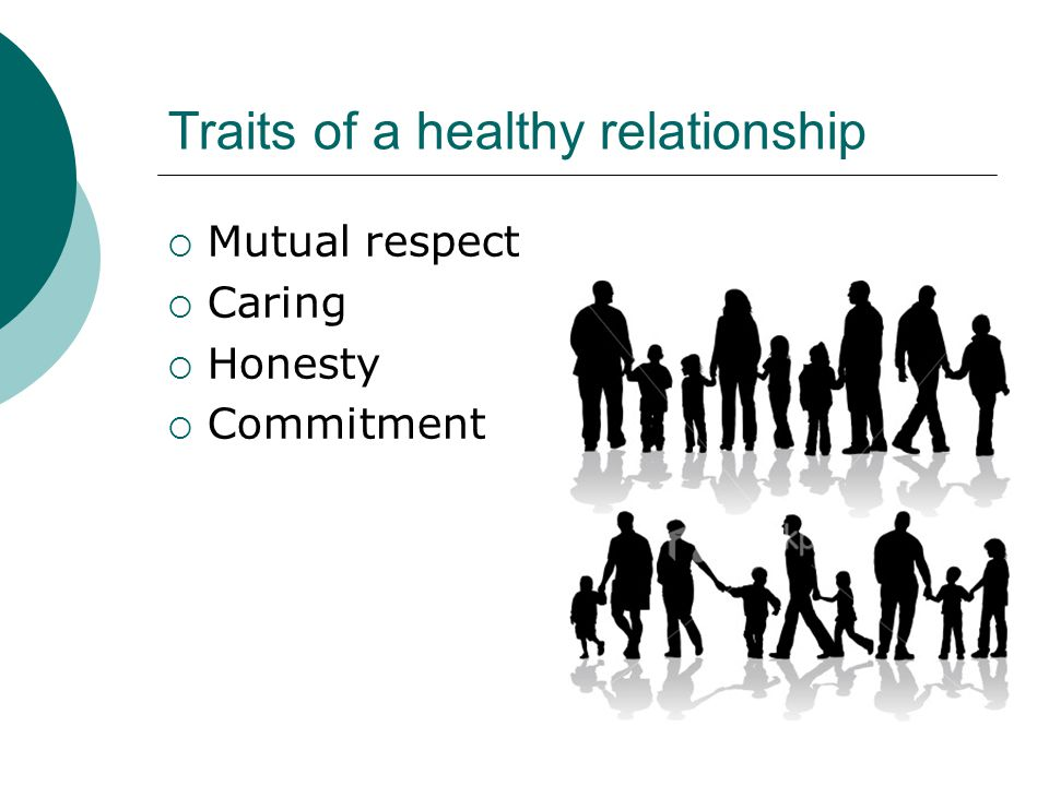 Traits of a healthy relationship
