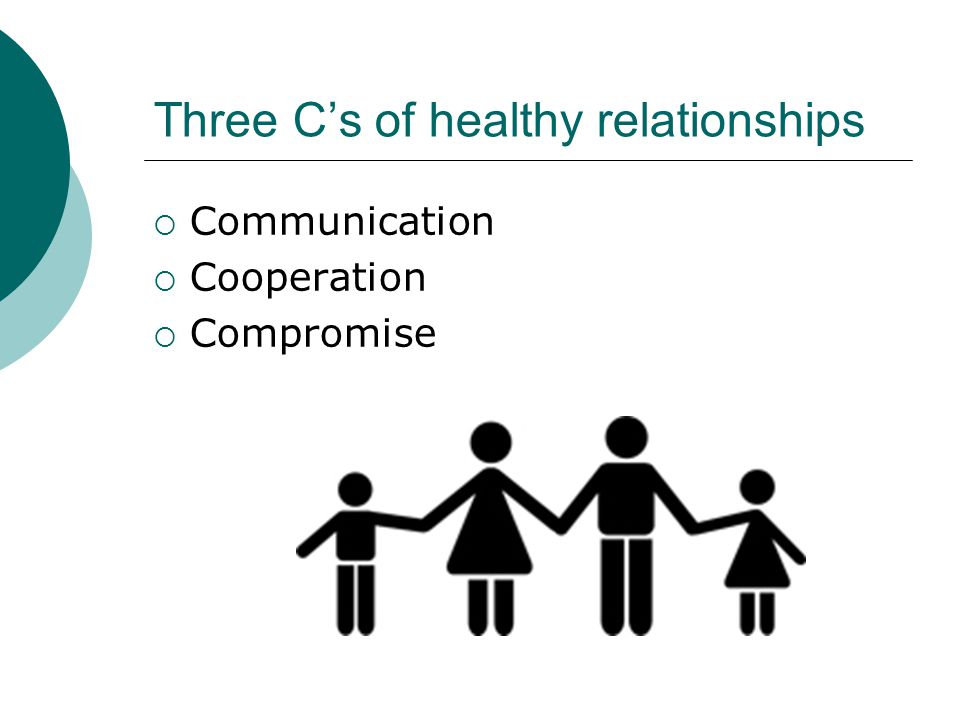 Three C's of healthy relationships
