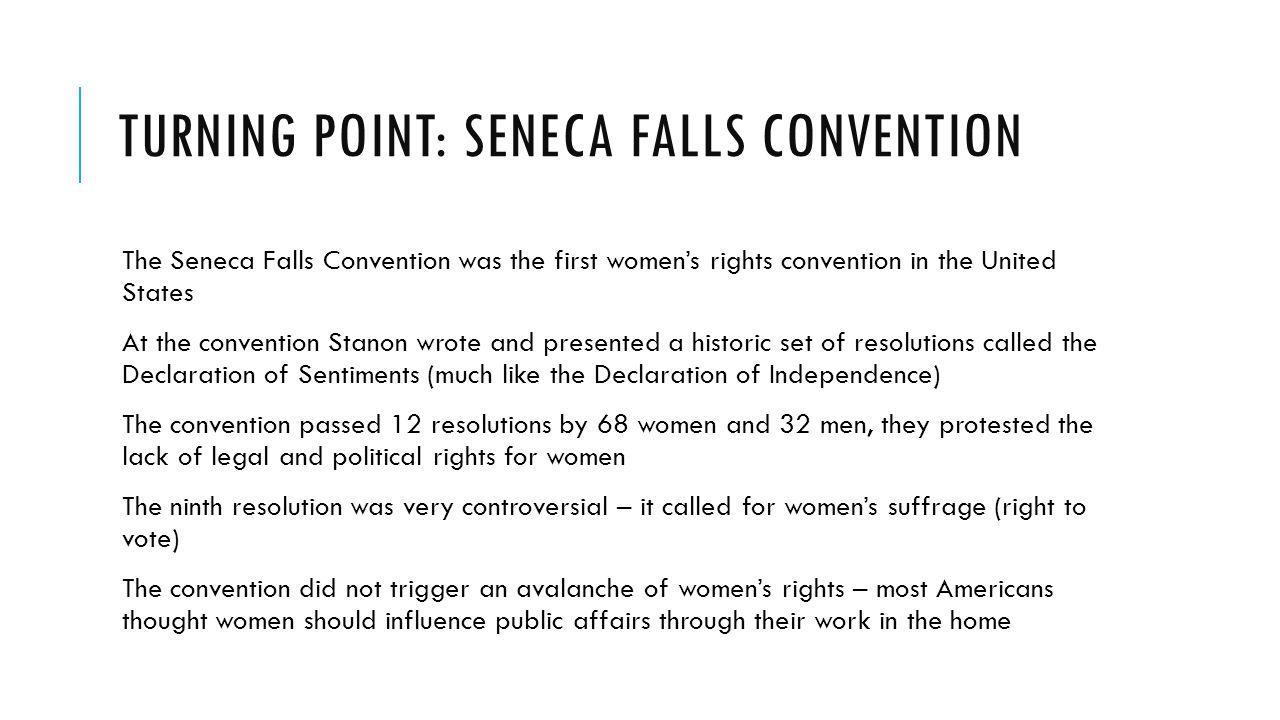 Turning Point: Seneca Falls Convention