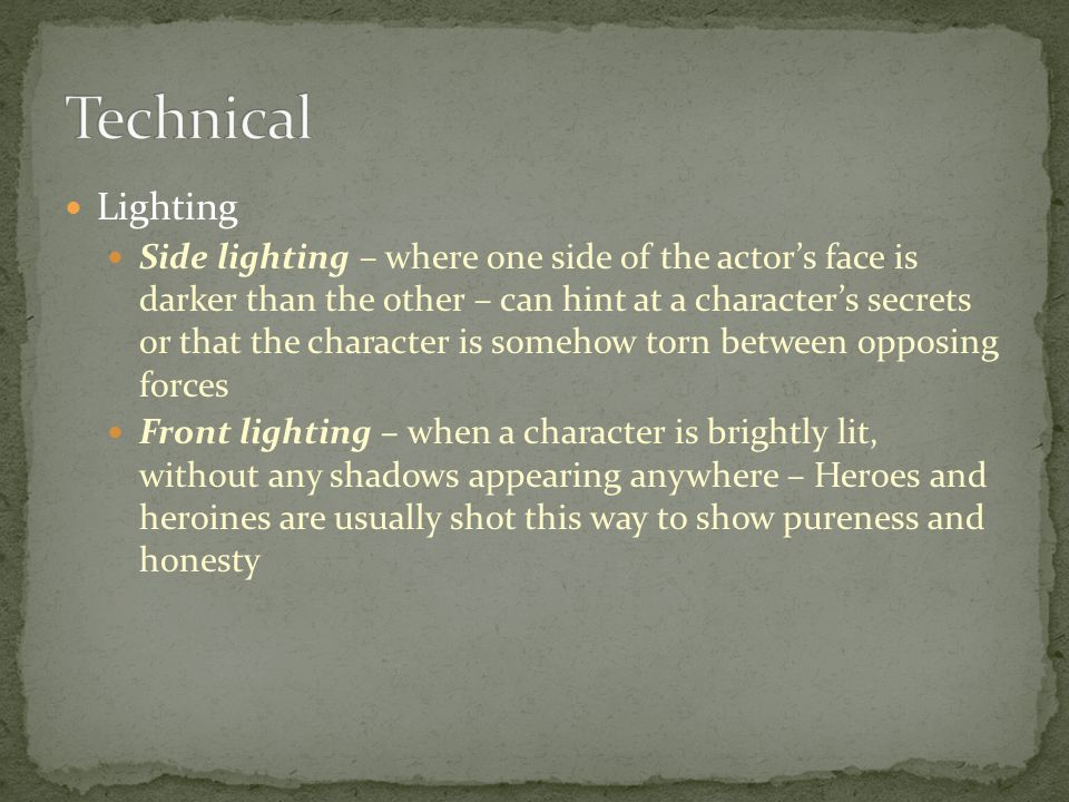 Technical Lighting.