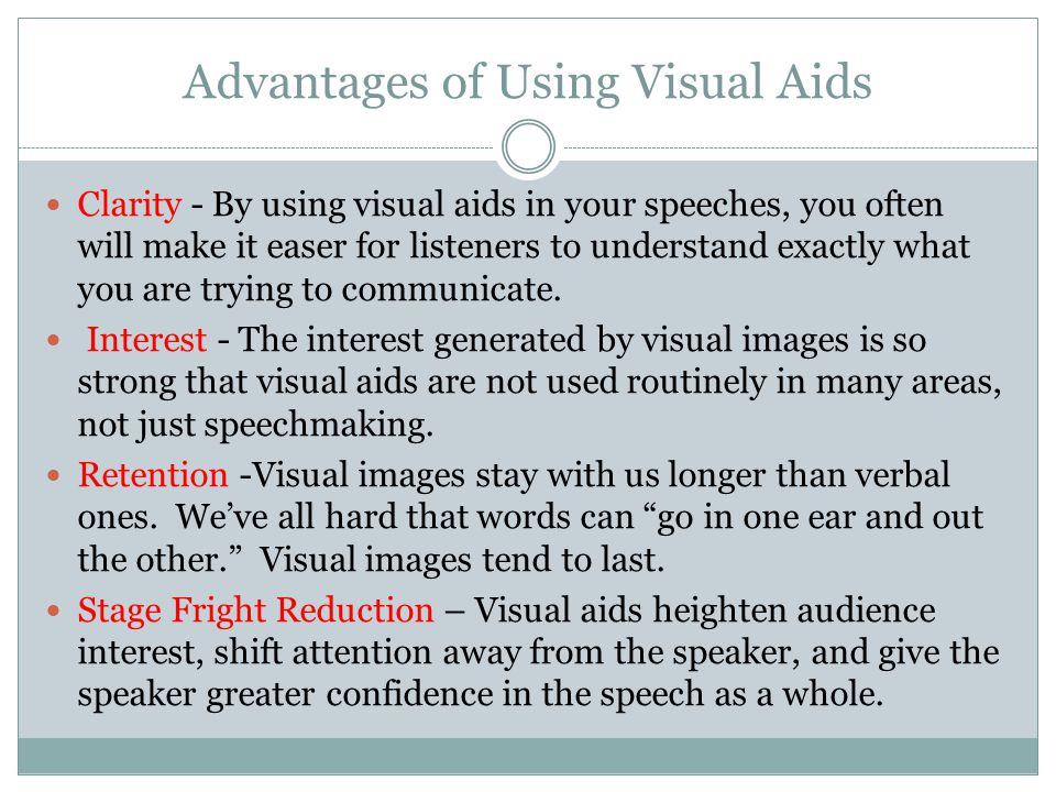 Advantages of Using Visual Aids