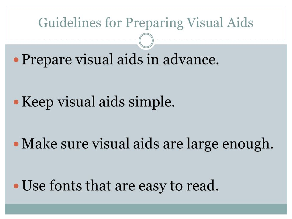 Guidelines for Preparing Visual Aids