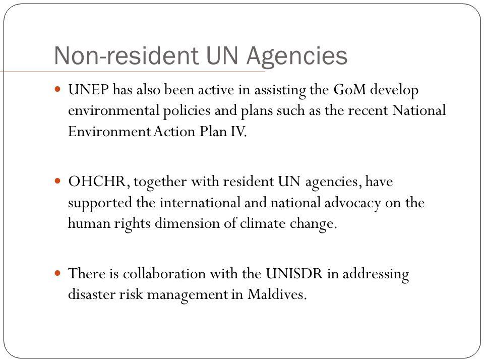 Non-resident UN Agencies