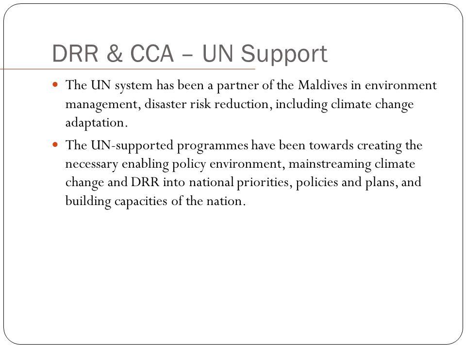 DRR & CCA – UN Support