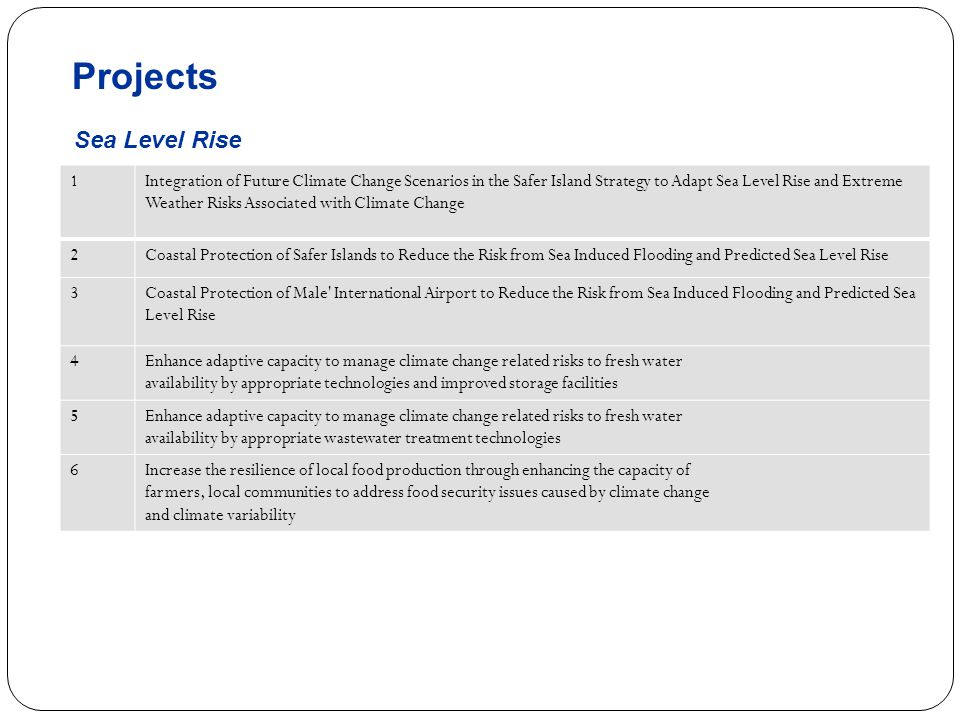 Projects Sea Level Rise 1